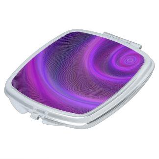 Espejo De Maquillaje Tormenta púrpura de la noche