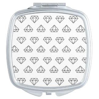 Espejo De Viaje Espejo del acuerdo del modelo del diamante