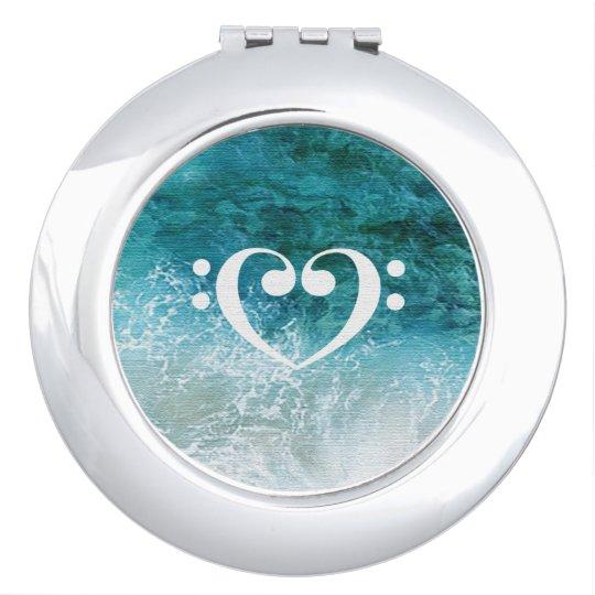 Espejo De Viaje Todo sobre el diseño azul bajo del océano