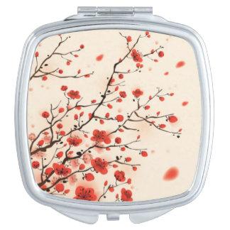 Espejo japonés del acuerdo de la flor de cerezo espejo de viaje