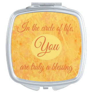Espejo Maquillaje Círculo del espejo del acuerdo de la vida