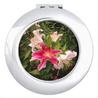Espejo Maquillaje Imagen floral del lirio