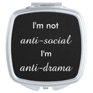 Espejo Maquillaje No soy antisocial.