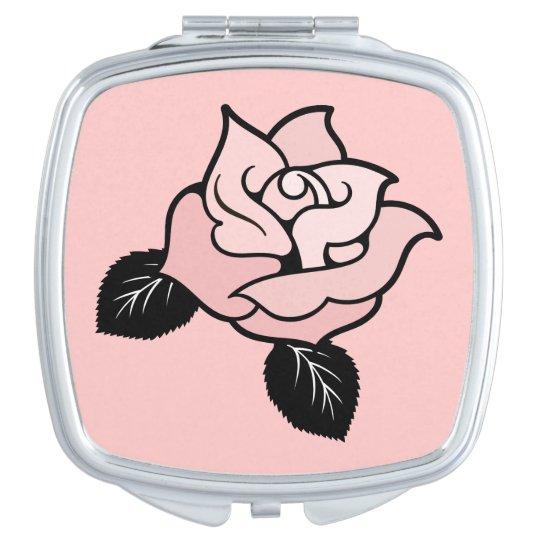 Espejo nupcial color de rosa rosado del acuerdo espejo de - Espejo de viaje ...