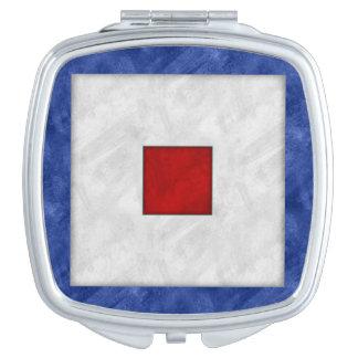 Espejo Para El Bolso Bandera marítima de la señal náutica de la