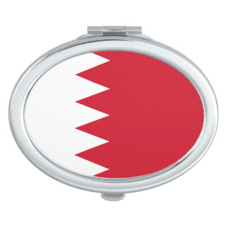 Espejo Para El Bolso Bandera patriótica de Bahrein