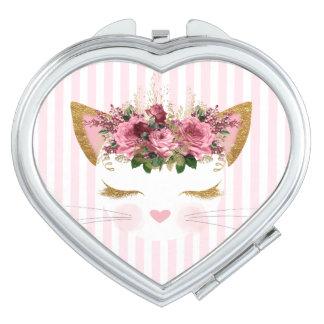 Espejo Para El Bolso Espejo bonito del acuerdo del gatito