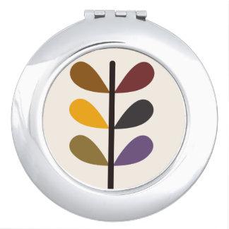Espejo Para El Bolso Espejo de vanidad abstracto del otoño de la planta