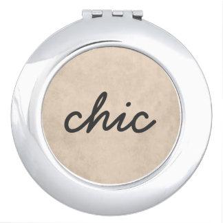 Espejo texturizado elegante del maquillaje de la espejos maquillaje