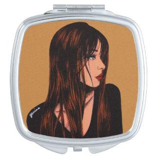 Espejo trigueno del acuerdo del chica espejos compactos