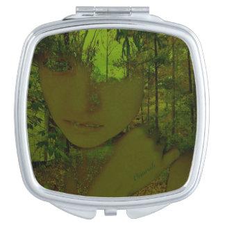 Espejo verde del acuerdo del bosque espejos maquillaje