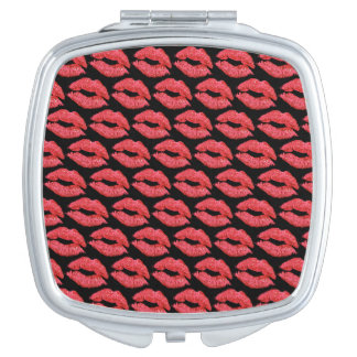 Espejos Compactos Envase del maquillaje del Smooch