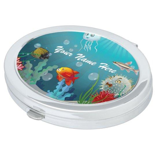 Espejos De Maquillaje Criaturas marinas coloridas