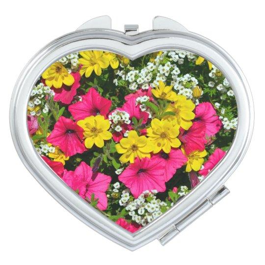 Espejos De Maquillaje Impresión bonita de las petunias