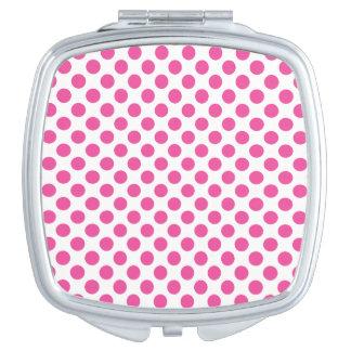 Espejos De Maquillaje Lunares rosados