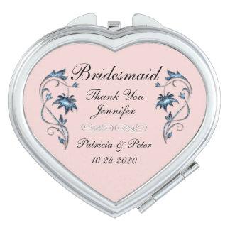 Espejos De Viaje Dama de honor personalizada floral