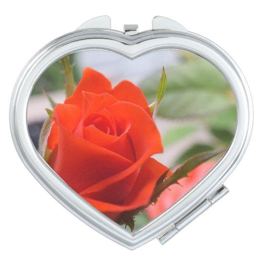Espejos De Viaje Espejo del acuerdo del corazón de los rosas