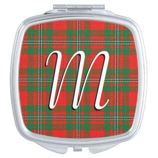 Espejos De Viaje Tela escocesa de tartán escocesa de Gregor