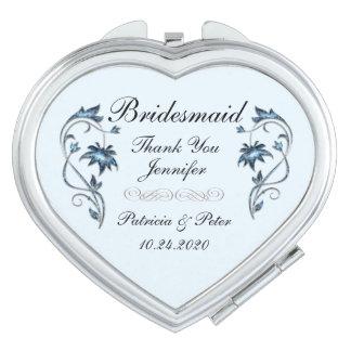 Espejos Maquillaje Dama de honor personalizada floral