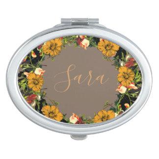 Espejos Maquillaje El boda de la guirnalda florece el vector floral