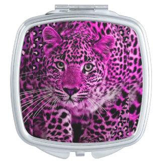 Espejos Maquillaje Espejo púrpura del leopardo