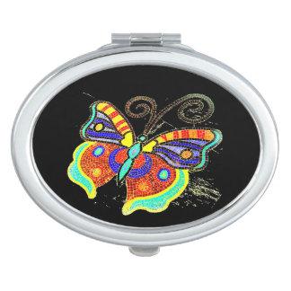 Espejos Maquillaje Mariposa multicolora cualquier fondo