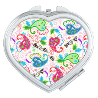 Espejos Para El Bolso Modelos de flores decorativos coloridos lindos