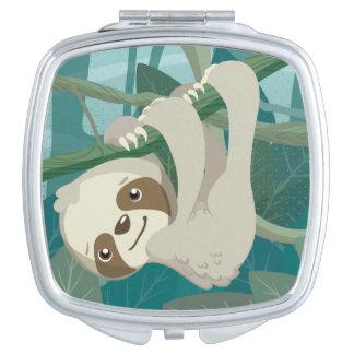 Espejos Para El Bolso Pereza linda del bebé en una rama