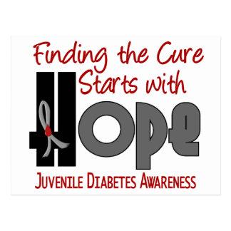 ESPERANZA 4 de la diabetes juvenil Postal