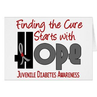 ESPERANZA 4 de la diabetes juvenil Tarjetón