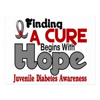ESPERANZA 5 de la diabetes juvenil Tarjeta Postal