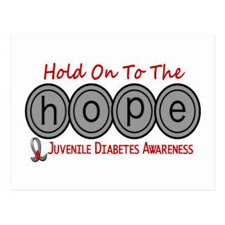 ESPERANZA 6 de la diabetes juvenil Tarjetas Postales