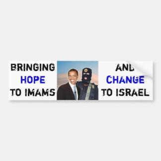 Esperanza a los imanes, cambio a Israel Pegatina Para Coche