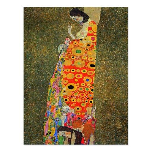 Esperanza abandonada Klimt de Gustavo Tarjetas Postales