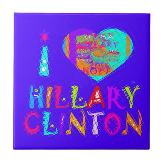 Esperanza asombrosa agradable y preciosa Hillary Azulejo Cuadrado Pequeño