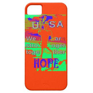 Esperanza colorida de los E.E.U.U. Hillary somos Funda Para iPhone SE/5/5s