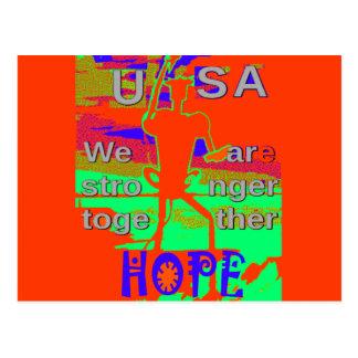 Esperanza colorida de los E.E.U.U. Hillary somos Postal