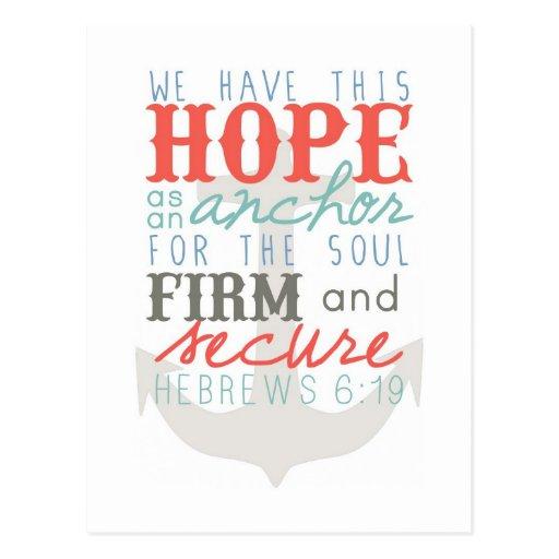 Esperanza como postal del ancla