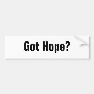 ¿Esperanza conseguida? Etiqueta De Parachoque