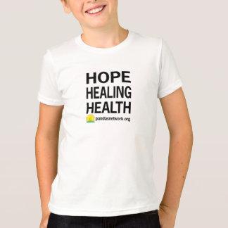Esperanza, curando, camiseta del niño de la salud