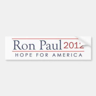 esperanza de América Ron Paul 2012 Pegatina Para Coche