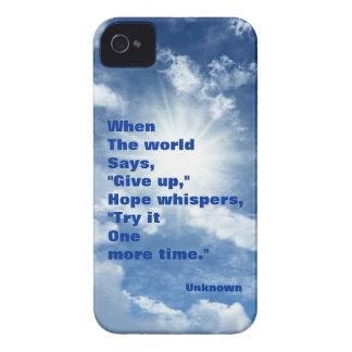 Esperanza de la cita y diseño del cielo azul de la iPhone 4 Case-Mate funda