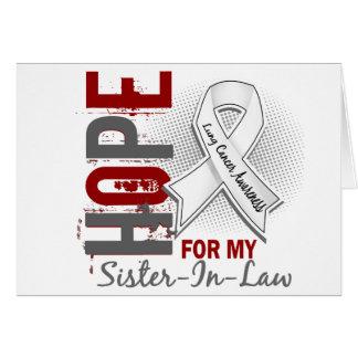 Esperanza de mi cáncer de pulmón de la cuñada tarjetón