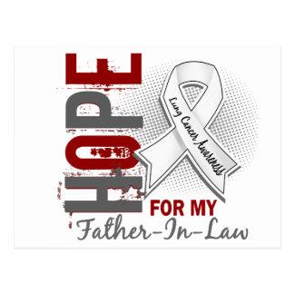 Esperanza de mi cáncer de pulmón del suegro postal