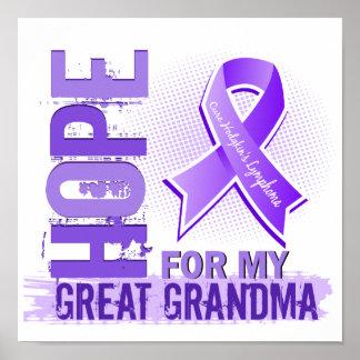 Esperanza de mi gran linfoma de Hodgkins de la abu Poster