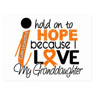 Esperanza de mi leucemia de la nieta tarjetas postales