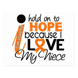 Esperanza de mi leucemia de la sobrina postal