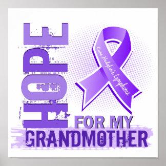 Esperanza de mi linfoma de Hodgkins de la abuela Posters