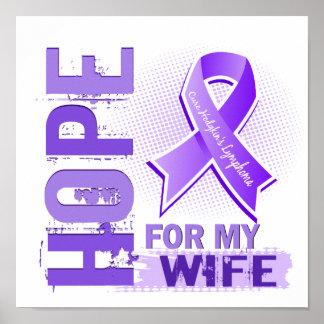 Esperanza de mi linfoma de Hodgkins de la esposa Posters