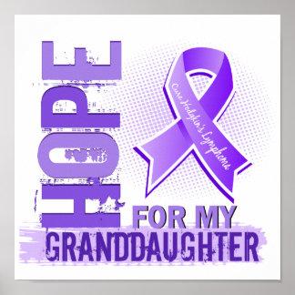 Esperanza de mi linfoma de Hodgkins de la nieta Poster